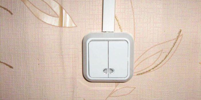 двойной выключатель схема подключения на две лампочки