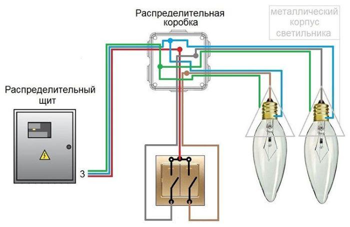 podklyucheподключение двойного выключателя на две лампочкиnie-dvoynogo-vyklyuchatelya-na-dve-lampochki