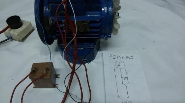 схема подключения конденсатора к электродвигателю 220в